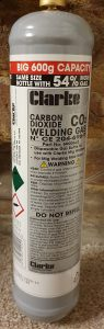 disposable CO2 gas cylinder